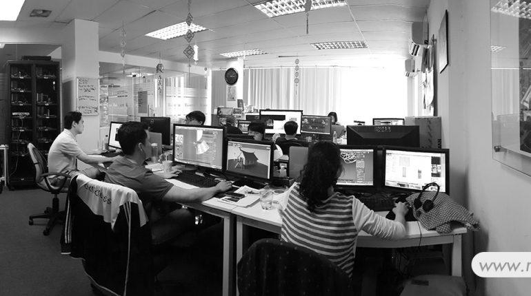 hình ảnh văn phòng công ty làm phim quảng cáo & 3D Rainstorm Film tại tp. HCM