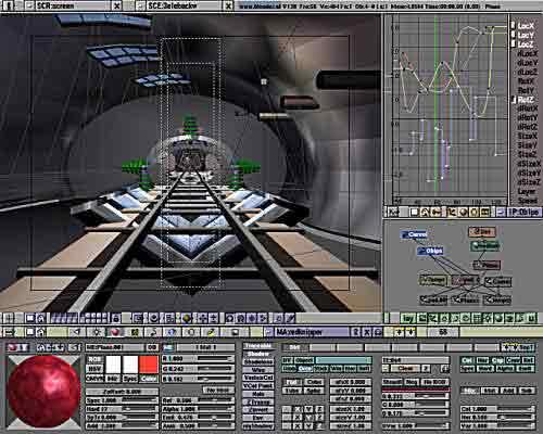 giao diện Blender phiên bản đầu tiên chỉ chạy trên hệ điều hành Irix