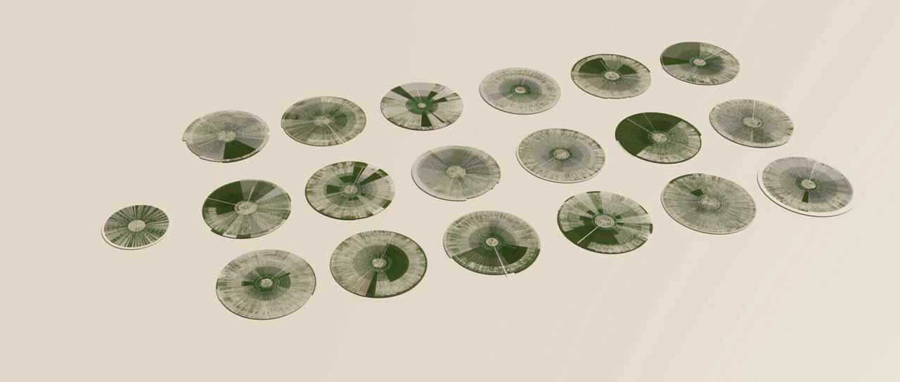 các khu trồng trọt của nhà kính